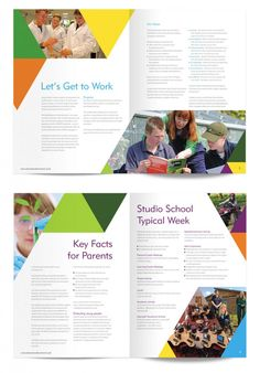 CuCo were tasked with developing Dorset Studio School's complete brand identity to prepare for the school's opening. Yearbook Template, School Template, Brochure Layout, Brochure Design, Flyer Design, Minimal Web Design, School Magazine Ideas, Magazine Examples, School Prospectus