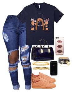 """""""blah"""" by wavyjai ❤ liked on Polyvore featuring adidas, Casetify, Furla, BCBGMAXAZRIA, Marc by Marc Jacobs and Chloé"""