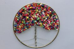 Bubblegum Tree of Life Wall Art by CraftySquirrelDesign on Etsy