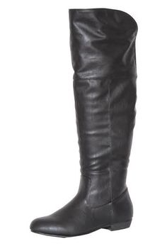 The only boot you'll need this fall. The Lily Over the Knee Flat Boot is a must have to go with just about anything in your wardrobe! #Boots