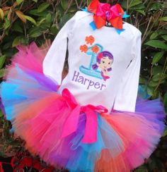 Bubble Guppies birthday outfit I am having made - Oona