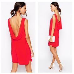 BCBG Brand New! red backless dress Hot BCBG red dress. Scoop open back. Size 6 Brand New!!! Took tags off but didn't wear it because it was too big on me. BCBG Dresses Backless
