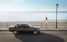klasyczne BMW E30 sedan w Gdyni Orłowie