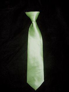 Boys Lime Green Satin Tie