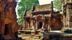 Banteay Srei, Siem Reap, Cambodia [Explored 274 on Sunday, June Somewhere Over, Siem Reap, I Want To Travel, Angkor Wat, Over The Rainbow, Cambodia, June 22, Explore, House Styles