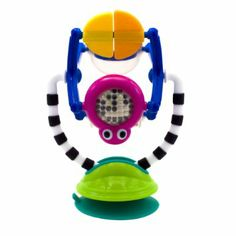 Amazon.com: Sassy Sensation Station     The boys LOVE these stick on toys, perfect for high chair and restaurants.