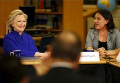 """Clinton sought to seize an advantage over Republicans Tuesday, accusing those who talk of """"legal status"""" instead of """"citizenship"""" of wanting to denigrate undocumented immigrants."""