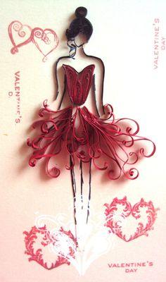 20 Magnifiques modèles de Ballerines en paperolles! Le Quilling! - Bricolages…