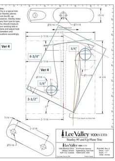 Handplanes #4: Custom Hand Plane Totes Stanley & LV Veritas