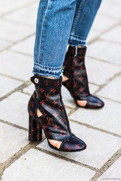 Louis Vuitton boots that make a statement.