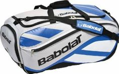 """Babolat 2010 Club Line Tournament Tennis Duffle Bag - Blue/Silver/Black by Babolat. $54.95. Dimensions: 31""""x13""""x14"""". The Babolat Club Line Tournament Bag boasts an 80 litre capacity with multiple functions and pockets to keep you organise throughout your tournament giving you the opportunity to feel prepared all the way to the final game.Dimensions 30.7 x 13.3 x 14.5 in"""