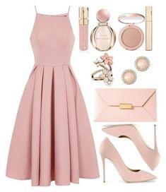 shop the look pink dress look spring look blush blush spring Trendy Dresses, Modest Dresses, Cute Dresses, Beautiful Dresses, Casual Dresses, Pink Dress Casual, School Formal Dresses, Formal Outfits, Dress Formal