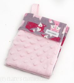 Hey, I found this really awesome Etsy listing at https://www.etsy.com/listing/162813994/baby-lovey-blanket-pink-and-gray-foxes