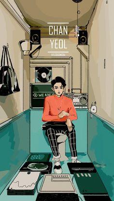 exo, chanyeol, and fanart image Exo Anime, Oppa Gangnam Style, Chanyeol Baekhyun, Exo Fan Art, Exo Lockscreen, Kpop Exo, Fanarts Anime, Kpop Fanart, Chanbaek Fanart