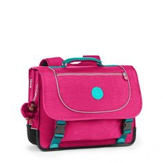 Poona M Flamboyant Pink #Kipling, available on samdamretail.be from 124.90 euro #schoolbags #pink