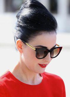 Les lunettes Thierry Lasry adoptées par les stars: Dita Von Teese
