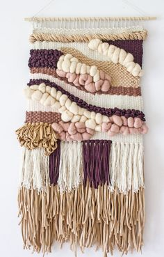Large wall hanging - OFF Woven wall weaving Woven tapestry Weaving… Weaving Wall Hanging, Weaving Art, Tapestry Weaving, Loom Weaving, Tapestry Wall Hanging, Hand Weaving, Wall Hangings, Art Fil, Weaving Projects