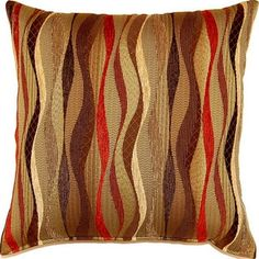 New Wave Brick 17-inch Throw Pillows (Set of 2) | Overstock.com Shopping - The Best Deals on Throw Pillows