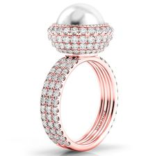Danhov Trenta collection pearl cocktail ring