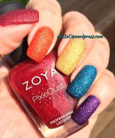 Zoya Pixie Dist Rainbow mani