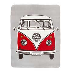 Just look at this! Official Retro Van Throw!  How great is this when you are snuggled up in your van on these Summer weekend breaks?  Check out the rest of our VW bedding ranges, COOL is not the word!! - Free UK Shipping
