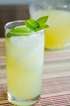 Sparkling Italian Lemonade - I made this a lot last summer, as it was requested over and over again by my hubby. It was quite amazing. Basil, sugar, water, fresh squeezed lemon juice, and sparkling water.
