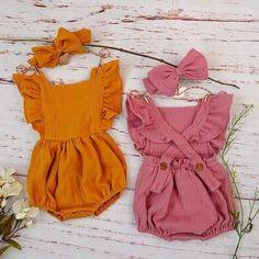 Shop Organic Baby Girl Clothes | Stella Ruffled Romper