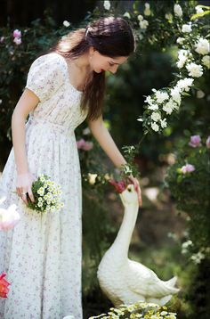 A pat on the head. French Country Style, Jane Austen, Modest Fashion, French Vintage, Vintage Style, Vintage Dresses, Vintage Ladies, Flower Girl Dresses, Dresses Dresses