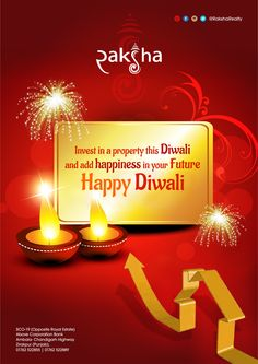 This #Diwali, #Invest in #Property and #secure your #future..!!  #HappyDiwali #RakshaRealty #RealEstate #Zirakpur #Chandigarh #Mohali