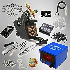 Tattoo Kit Professional Inkstar 1 Machine VENTURE Set GUN No Ink Original ** More info could be found at the image url. (This is an affiliate link) C Tattoo, Tattoo Kits, Gangster Tattoos, Rotary Tattoo Machine, Tattoo Needles, Guns, Things To Sell, The Originals, Book