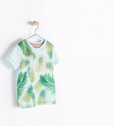 ZARA - BABY BOY- PINEAPPLE 10 T-SHIRT
