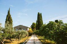 Provence destination skyline flags blue sky buildings street home | Amber + Alexis | South of France Destination Wedding | Jenn Emerling
