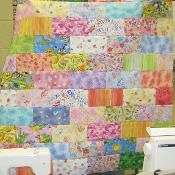 Scrappy Bricks Quilt - via @Craftsy - We could do this brick quilt!