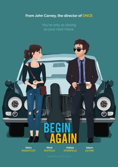 begin again movie poster vector - Google Search