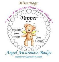 There is NO charge for your customized  ¸¸.•*☽´¨`*☆´*.¸Angel Awareness Badge•°´★.¸¸¸. •°´☽ ~ Get YOURS today!! Don't forget to spread the love and tell your friends (who have suffered loss) so they can get theirs. Let's tell the world that our kids matter!!! http://www.mymiscarriagematters.com/angel-awareness-badge.html