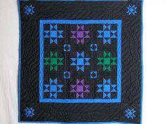 Ohio Stars Quilt -- marvelous meticulously made Amish Quilts from Lancaster Amische Quilts, Sampler Quilts, Star Quilts, Mini Quilts, Quilt Blocks, Amish Quilt Patterns, Rug Patterns, Tatting Patterns, History Of Quilting