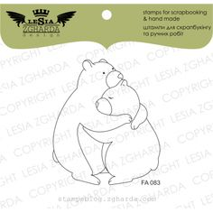 "Animals > Stamp ""Bears"" Buy from e-shop Tampons Transparents, Scrapbooking, Spring Bouquet, Stamp, Craft Supplies, Bears, Crafts, Handmade, Stuff To Buy"