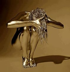 Shimmer X - fantasy - Art Corporel Body Painting, Fotografie Portraits, Arte Peculiar, Mary Wilson, Or Noir, Gold Bodies, Ansel Adams, Art And Illustration, White Photography