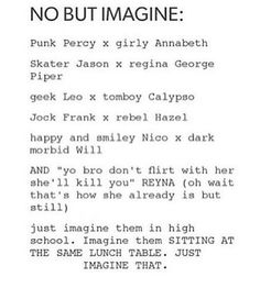*looks over at everyone * okay that would be awesome. ~Percy