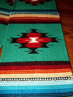 """A beautiful woven wool table runner. 10x80"""" with tassled corners. Classic southwestern design. $37.50 w/ free shipping!  Other designs & colors are available in our ebay store.  #tablerunner #homedecor #southwestern #nativeamerican"""