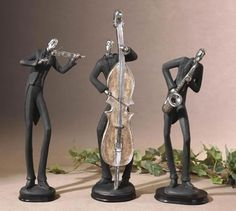 Harlem Nights Jazz Figurine Sculpture Statue Home D Cor Decorations Music Related Gifts Decorative