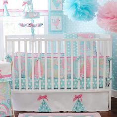 My Baby Sam Pixie Aqua Crib Set