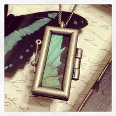 Butterfly Wing Necklace on Etsy, $25.00