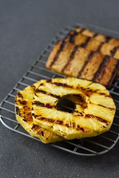 Teriyaki Grilled Tofu with a Sweet + Spicy Vinaigrette, and Grilled Pineapple