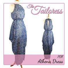 1008ebf2e43ae8 Athena Cowl Dress PDF Sewing Pattern – The Tailoress Pattern Draping