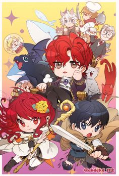 Would anyone know where the really wholesome fanarts for Trash of the Count's Family are? Kawaii Chibi, Kawaii Anime, Manhwa, Otaku, Anime Boy Hair, Episode Backgrounds, Manga Cute, Dark Fantasy Art, Boy Art