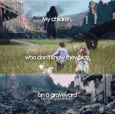 My children, who don't know they play on a graveyard |Mockingjay Part 2 - Epilogue /// THIS EDIT IS AMAZING!!!!