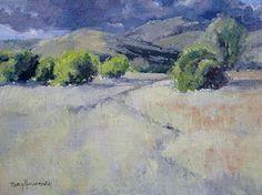 A Trail Runs Through It by Nancy Romanovsky Oil ~ 9 x 12