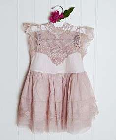 Lollies and Lace Boutique Pink Lace Cap-Sleeve Dress - Infant, Toddler & Girls | zulily