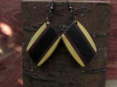 Wooden Earrings Mosaic  by Molinart por Molinart en Etsy